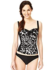 Cheetah Print Padded Tankini Top