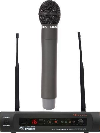 Uhf Wireless Microphone Handheld Cardioid Dynamic With Headphones