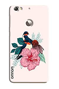 Omnam Birds Pattern Printed Designer Back Cover Case For LeTv Le 1s