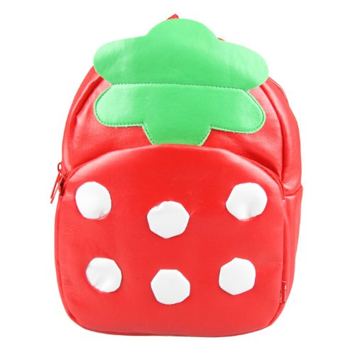 Linda Linda Strawberry Kids Bag, Little Kid Backpack, Children School Bag and Travel Bag