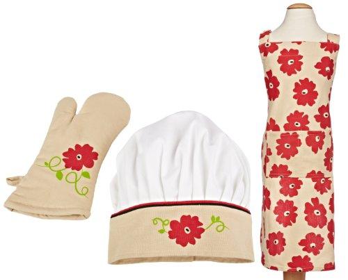 mukitchen-minimu-3-piece-kids-apron-set-red-poppy