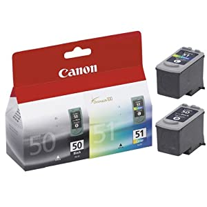 Canon PG50 Black and Canon CL51 Colour Combo Pack