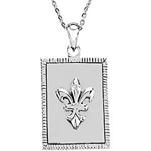 IceCarats Designer Jewelry Sterling Silver Know I Am God Blessed Affirmation Necklace W/Box