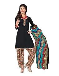 Mantra Fashion Black Color Digital Printed Designer Patiyala Salwar Kameez