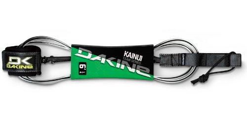 Dakiine Kainui Team Surfboard Leash (7-Feet x 1/4-Inch, Black/Clear)
