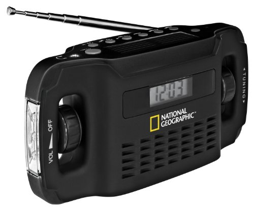 National Geographic Radio Solare NG-9048000 Nero