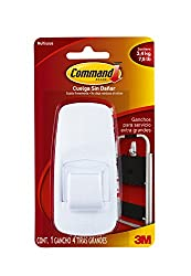 Command Jumbo Plastic Hook with Adhesive Strips, 1-Hook