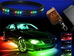 7-Colors LED Undercar Neon Strip Underbody Under Car Body Light Kit For NISSAN Titan