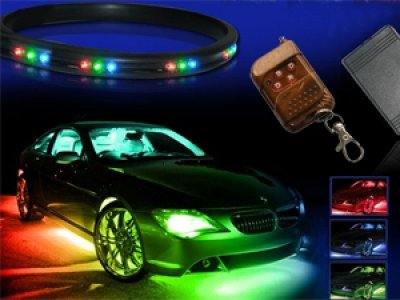 7-Colors LED Undercar Neon Strip Underbody Under Car Body Light Kit For VOLVO S60