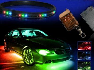 7-Colors Led Undercar Neon Strip Underbody Under Car Body Light Kit For Hyundai I30