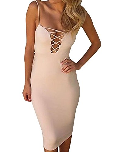 Allegrace-Womens-Summer-Sexy-Strap-Criss-Cross-Bodycon-Party-Evening-Dresses