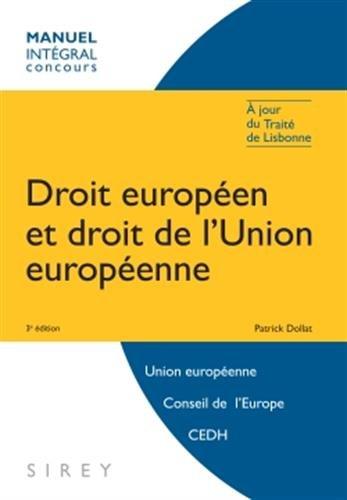 droit européen et droit de l'Union européenne (3e édition)