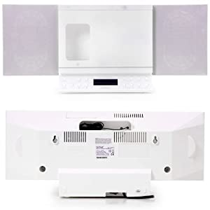 How to buy  Microsystem Iphone/Ipod docking Station CD Radio USB SD MP3 Denver MCI-103 white