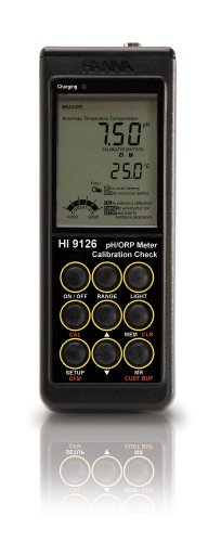 Hanna Instruments HI 9126 Portable pH/ORP Meter w/Multi Level LCD (115V Battery Charger)
