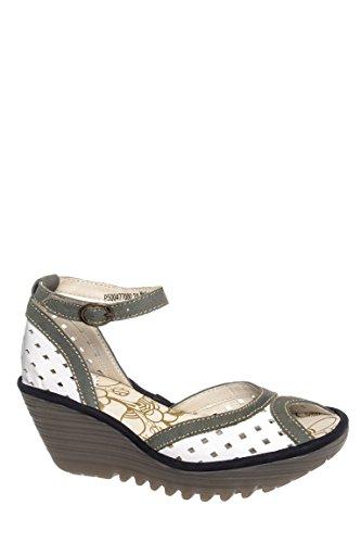 Ydel Perf Mid Heel Ankle Strap Sandal