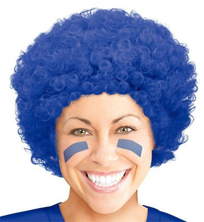 Thing 1 Thing 2 inspired Blue Costume Wig