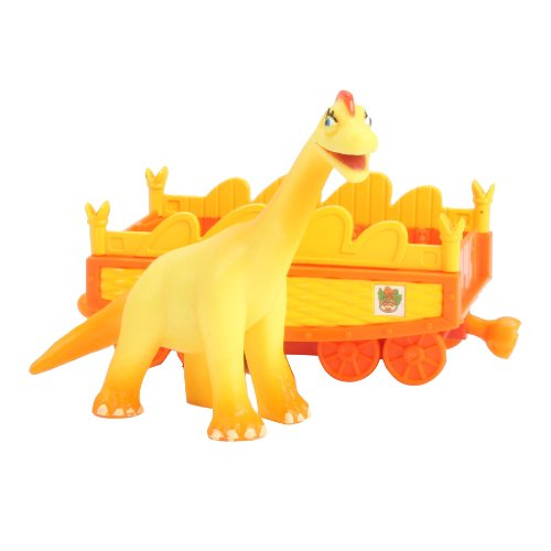 Learning Curve Dinosaur Train Collectible Dinosaur With Train Car - My Friends Are Quadrapeds: Ella Brachiosaurus - 1