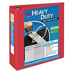 Heavy-Duty View Binder with One Touch EZD Rings, 3\
