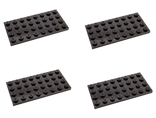 Lego Parts: Plate 4 x 8 (PACK of 4 - Black) - 1