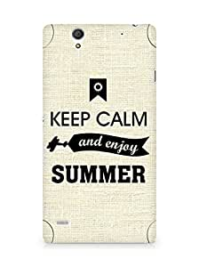 Amez Keey Calm and Enjoy Summer Back Cover For Sony Xperia C4