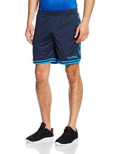 Hummel Sirius pantaloncini da uomo, Uomo, Sirius Shorts, Total Eclipse/Methyl Blue, S