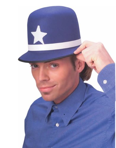 Adult Blue Plastic English Bobby Police Helmet Hat