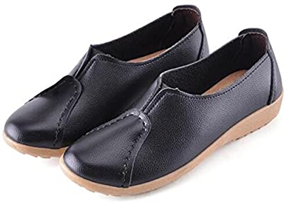 DADAWEN Women's Oxford Shoes Casual Loafers Mother Boat Shoes