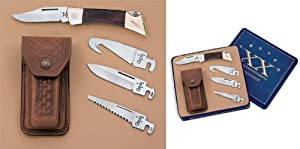 Case Knives 6005 XX Changer Lockback Knife with Rosewood Handles & Gift Tin by W.R. Case & Sons Cutlery