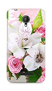 Amez designer printed 3d premium high quality back case cover for Micromax Canvas Spark Q380 (Flowers 2)