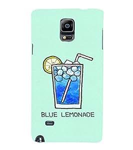 EPICCASE Blue Lemonade Mobile Back Case Cover For Samsung Galaxy Note 4 (Designer Case)