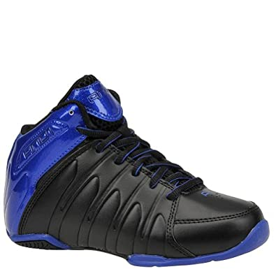 Buy AND1 Boys' Thunder Mid Toddler-Youth Basketball 13 M US Little Kid Black-Royal Blue by AND1