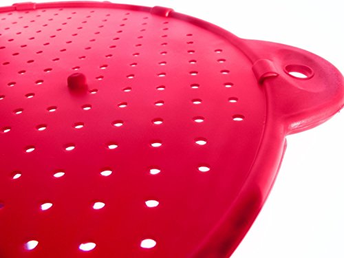 Set of Two (2) Silicone Splatter Screen for Bacon Grease and other Cooking Fats,Guard against Boiling or Frying Pan Splatter. (Splatter Guard For Frying Pans compare prices)