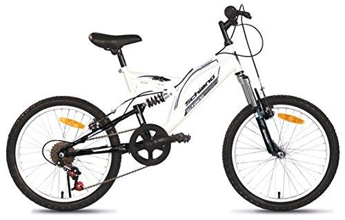 F.lli Schiano Runner Power Bicicletta Biammortizzata 18 V, Bianco/Nero, 26