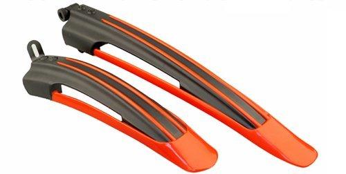 Schutzblech für Fahrradreifen / Schmutzfänger, für 24-26 Zoll große Reifen (61-66 cm), 2 Stück Black & Red