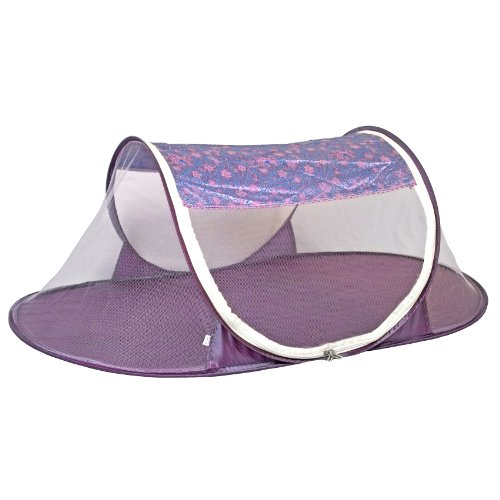 I Frogee Purple-Pink Floral Brocade Pop-Up Tent front-141518