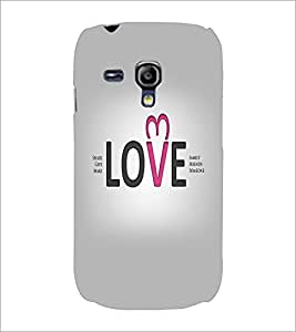 PrintDhaba Quote D-5546 Back Case Cover for SAMSUNG GALAXY S3 MINI (Multi-Coloured)