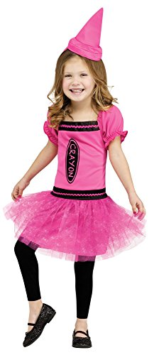 Fun World Costumes Baby Girl's Color Me Cutie Toddler Costume, Pink/Black, X-Large - 1