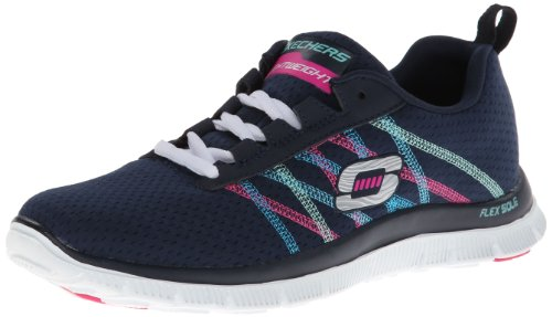 Skechers Flex Appeal Something Fun, Sneaker Donna, Blu (Blau (NVMT), 37 EU (4 Damen UK)