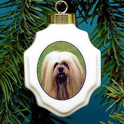 Christmas Ornament: Lhasa Apso