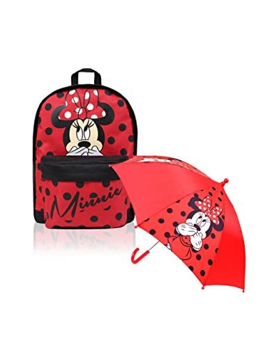 BACK TO SCHOOL Rucksack Minnie rot