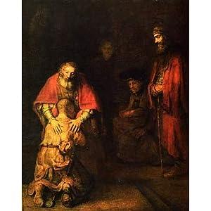 Rembrandt Harmensz. van Rijn (Return of the  Prodigal Son) Art Poster Print - 11x17