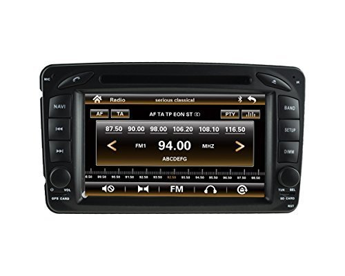 LIKECAR 7 Zoll Autoradio 2 DIN Multimedia Sat Navi GPS DVD Navigationssystem Touch Screen für Mercedes Benz Viano Vito W203 W209 G Class W463 mit FM AM Radio Dual Zone Ipod MP3 MP4 Iphone Blueooth RDS USB SD Lenkradkontrolle Audio Video Stereo Deutsch menu 3G Unterstützung Kamera DVR TV