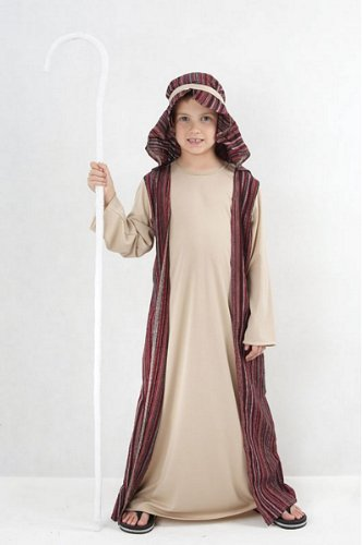 Bristol Novelty Boys Shepherd Costume Christmas Nativity Joseph 7-9 Yrs