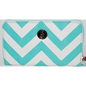 Savvycents Wallet (Teal Chevron)