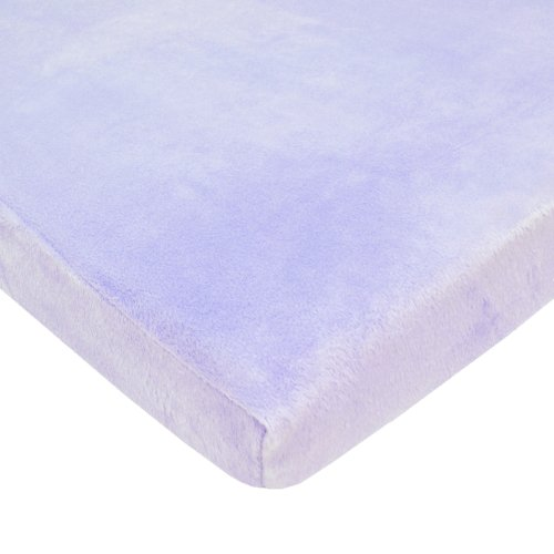 American Baby Company Heavenly Soft Chenille Fitted Cradle Sheet, Lavender