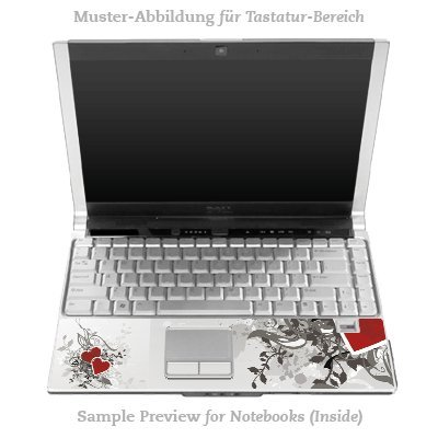 Design Skins für DELL Latitude D530 Tastatur - Hearts Design Folie [Elektronik]