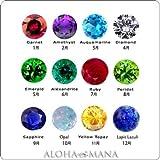 AlohaMana ダイヤモンド誕生石セッティングオプション (アクアマリン) amast3845-3