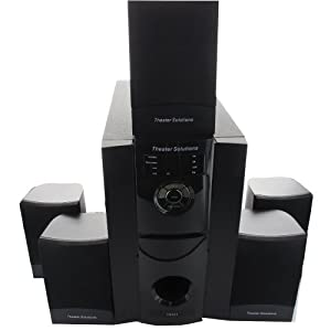Theater Solutions TS511 5.1 Multimedia Powered Home Theater Surround Sound Speaker System by Theater Solutions