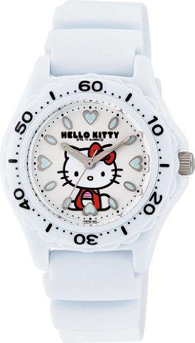CITIZEN Q&Q water resistant 10ATM wrist watch Hello Kitty diver analog display white VQ75-431