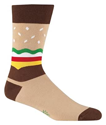 Sock It To Me Men's Crew Socks,Burger,One Size